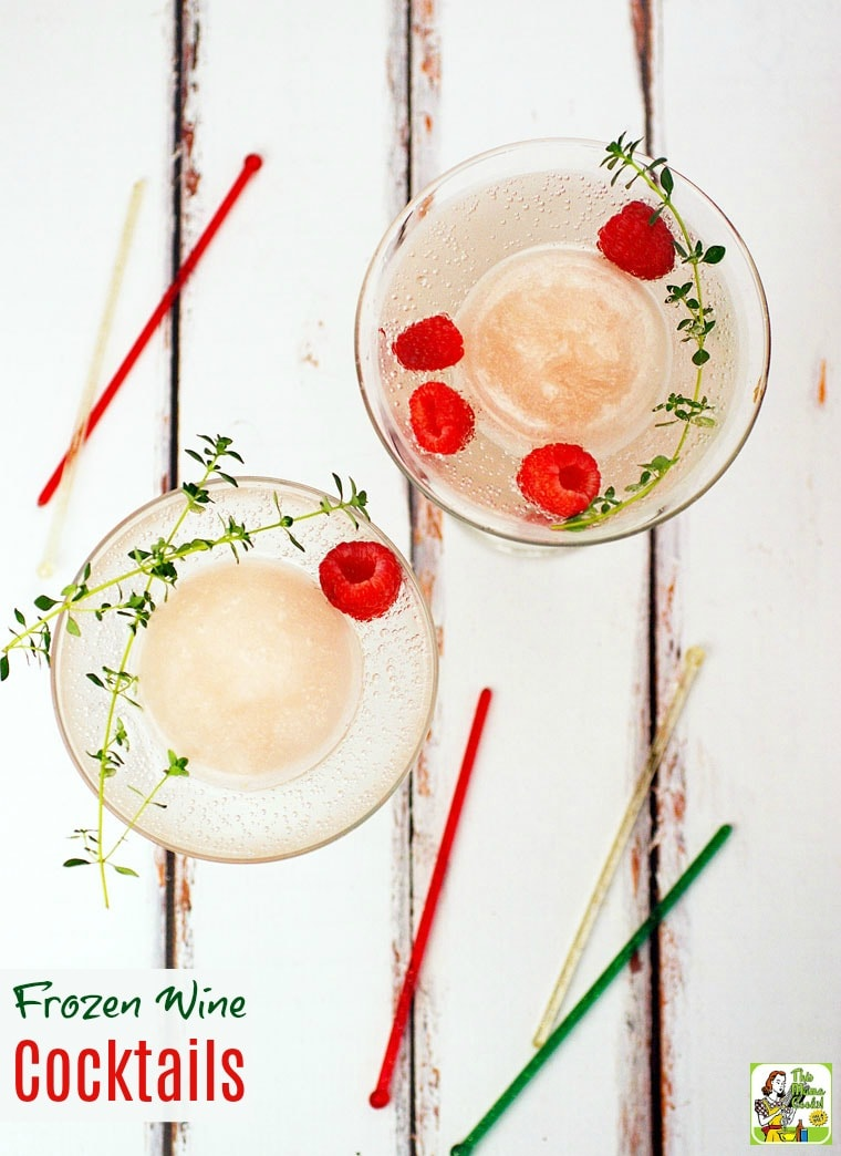Looking for unique frozen wine drink recipes for your cookout? Click to learn how to make Frozen Wine Cocktails. Get recipes for both a skinny wine cocktail and a slushy wine cocktail.
