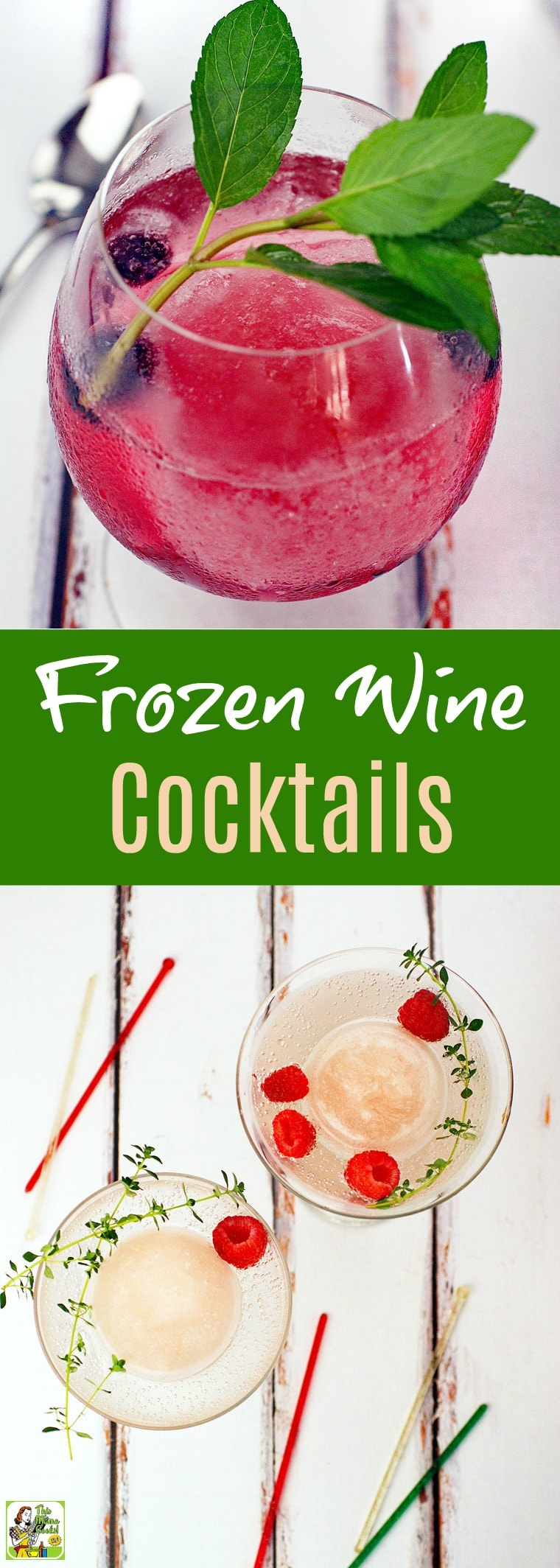 Looking for unique frozen wine drink recipes or blender cocktail recipes for your cookout party? Make up a batch of these Frozen Wine Cocktails. Get recipes for both a skinny wine cocktail and a slushy wine cocktail. #recipe #easy #recipeoftheday #healthyrecipes #glutenfree #easyrecipes #wine #skinnycocktails #cocktails #winecocktails #cocktailrecipe
