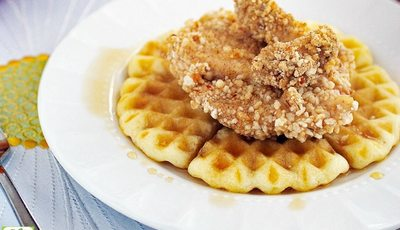 Gluten Free Chicken and Waffles with Jerk Spices