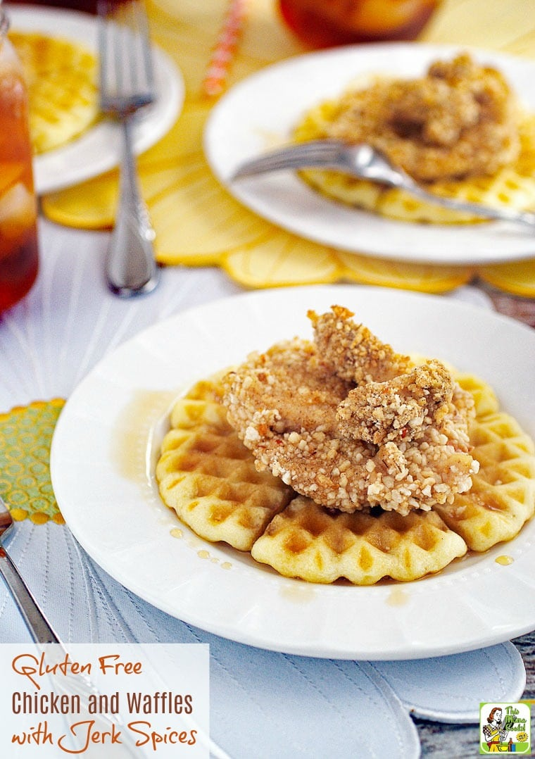 Do you love chicken and waffles but are gluten free? Click here to get a recipe for an easy to make oven baked and healthy, Gluten Free Chicken and Waffles with Jerk Spices recipe!