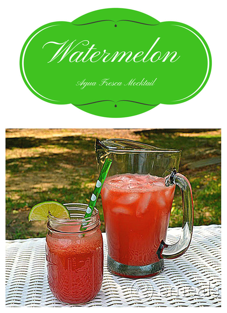 Get a healthy Watermelon Agua Fresca Mocktail recipe at This Mama Cooks! On a Diet