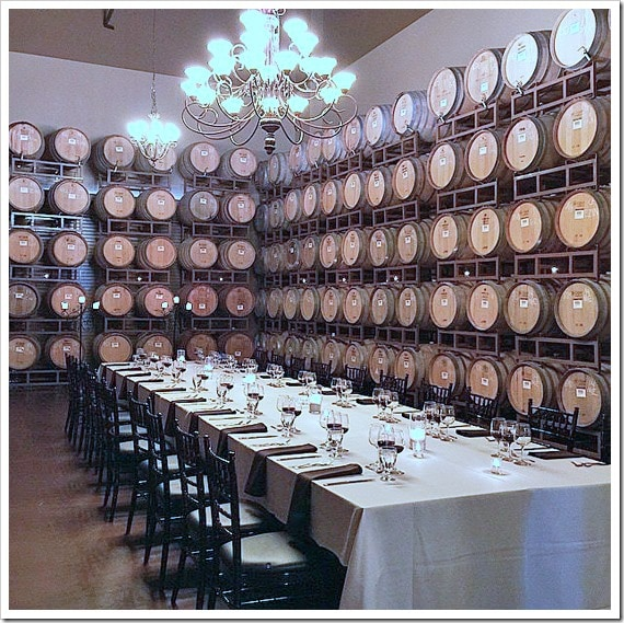 The Cask Room at Wilson Creek Winery where we had dinner. Click to get more travel tips on Temecula Valley California wineries.