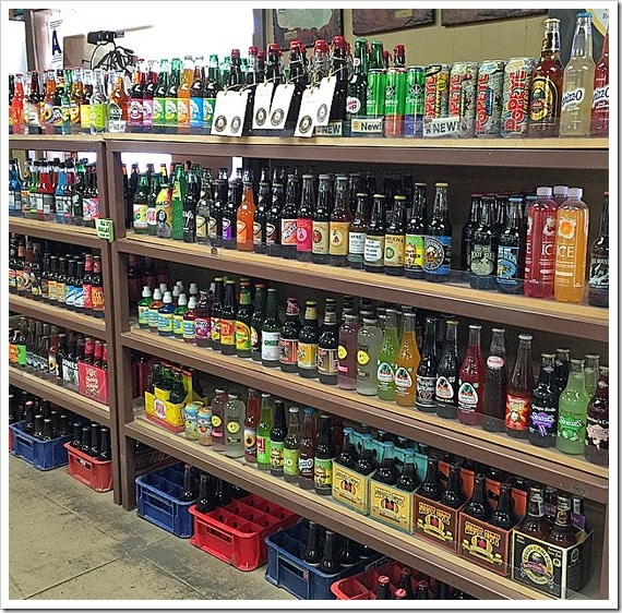 Can you believe all the sodas for sale at the Old Town Rootbeer Company in Temecula, California. Click to get more travel tips on Old Town Temecula Valley California.