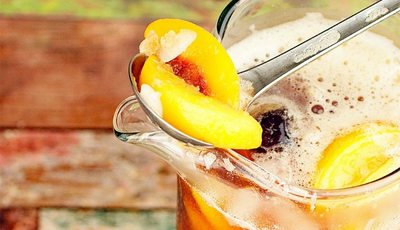 Cool down with a glass of Iced Tea Sangria