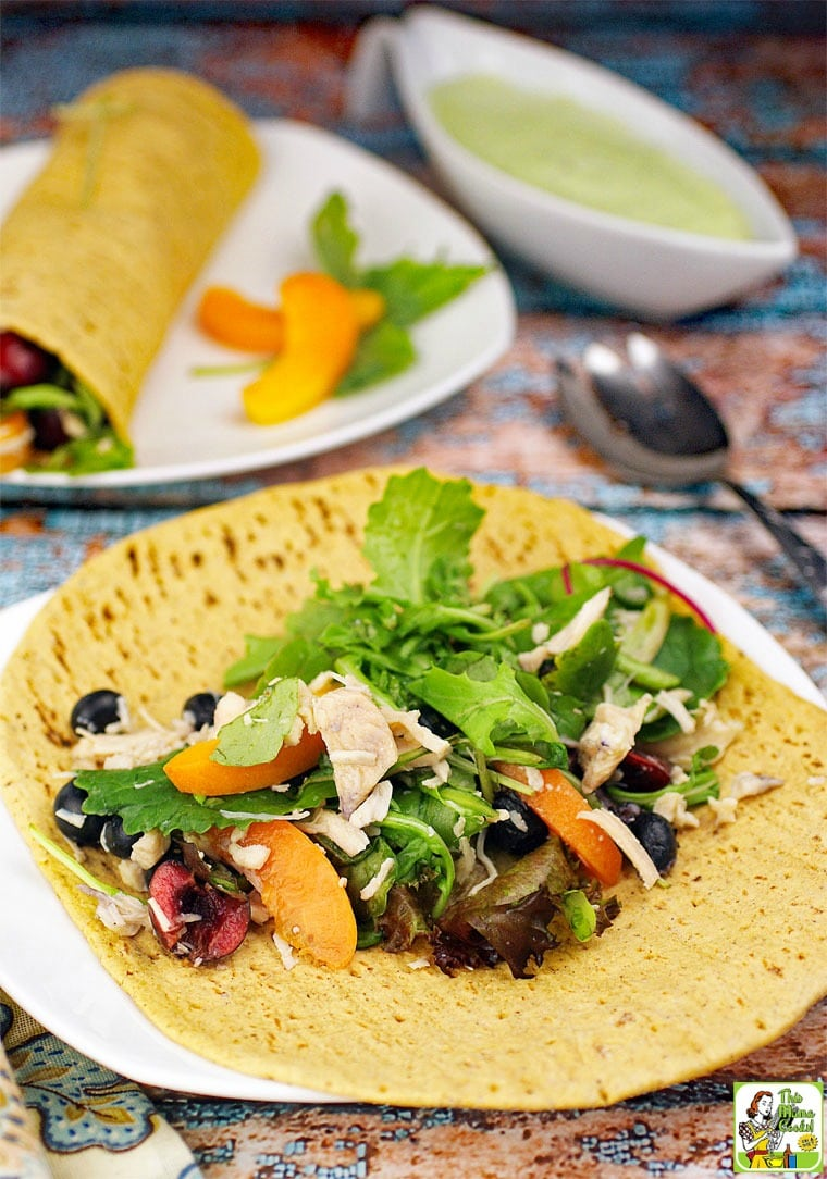 Serving up your leftover salad recipe with chicken in wraps makes a terrific lunch or light dinner.