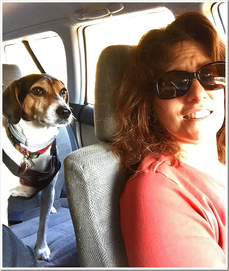 Me and my body dog and navigator, Nellie. Learn all about the best dog ever at This Mama Cooks! On a Diet