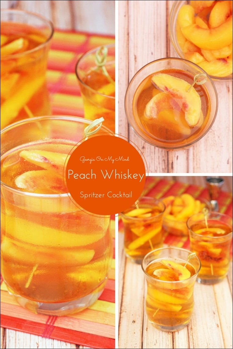 Georgia On My Mind Peach Whiskey Spritzer Cocktail | This ...