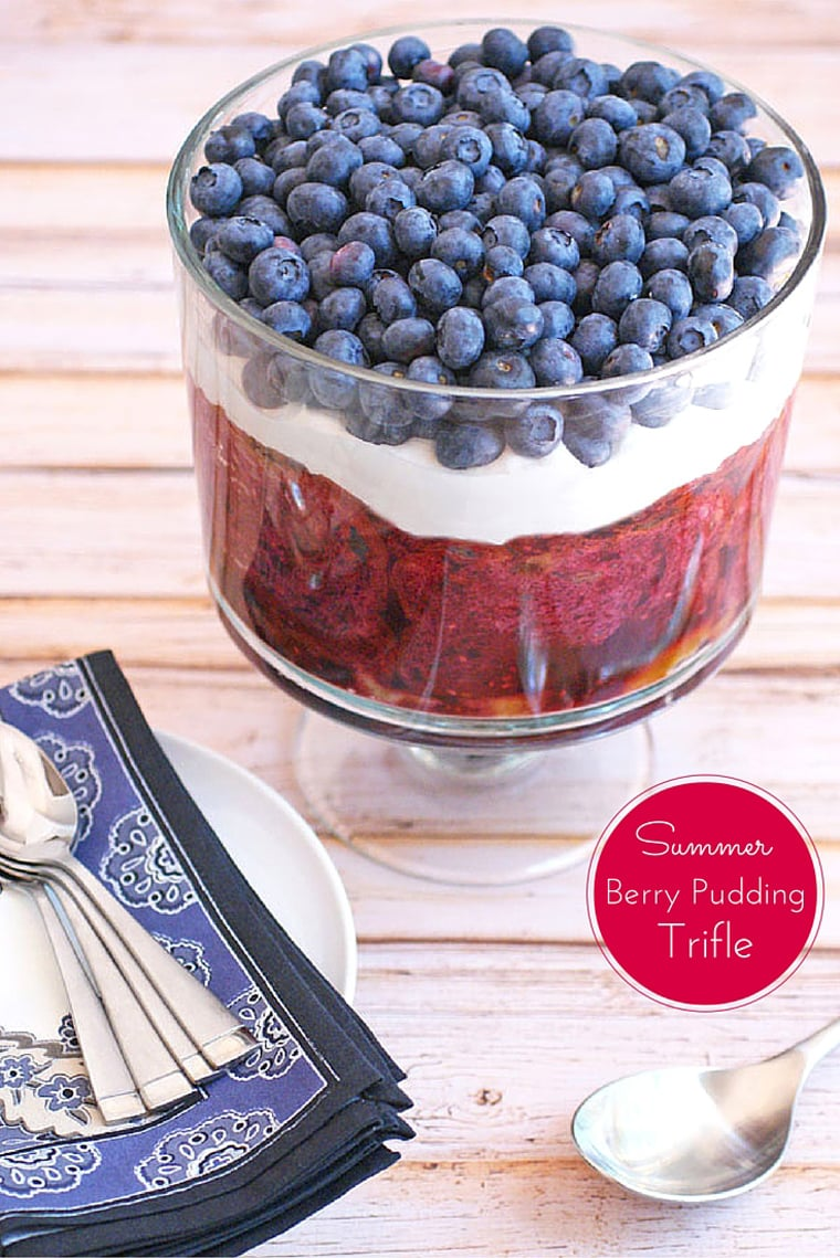 Looking for a delicious, healthy, gluten free and dairy free dessert recipe? Try this Summer Berry Pudding Trifle from This Mama Cooks! On a Diet