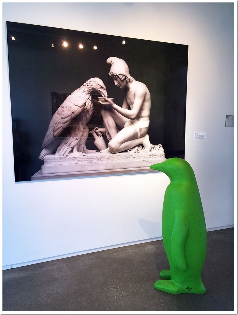 Even the penguins enjoy the art at the 21c Museum Hotel. Learn more about my stay in Bentonville, Arkansas at This Mama Cooks! On a Diet