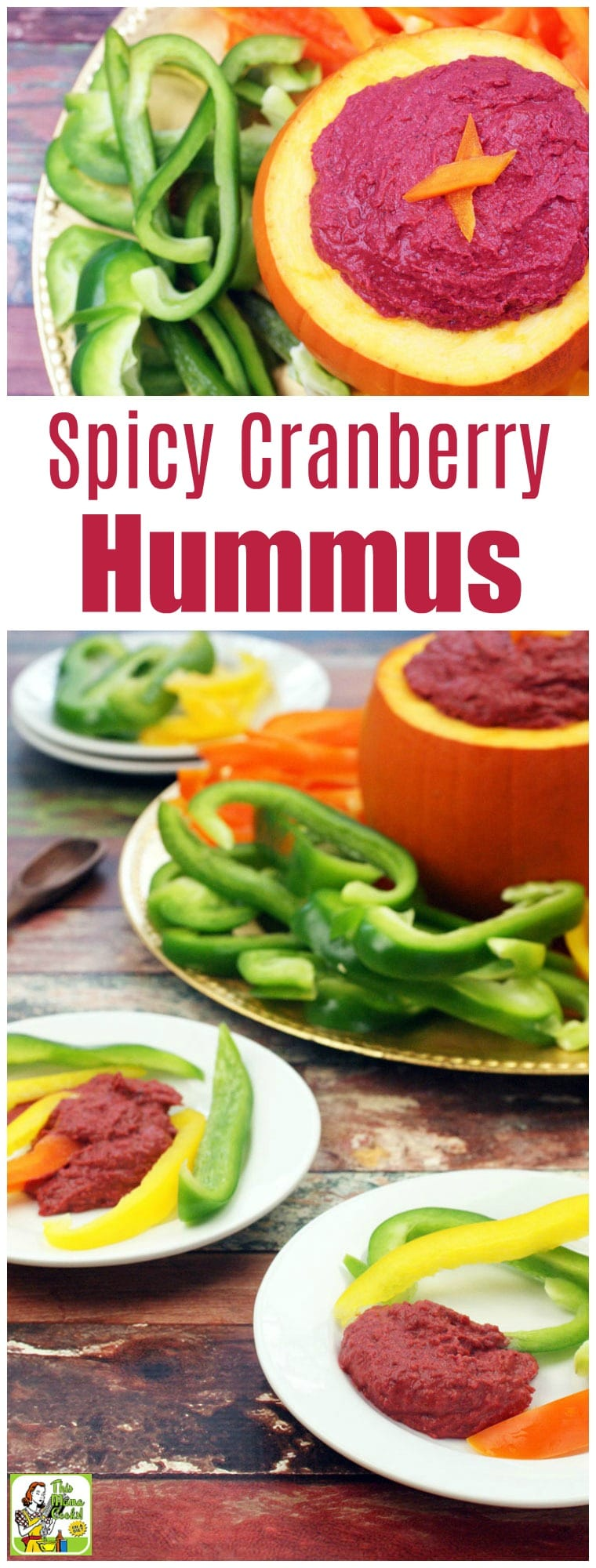 Serve this spicy hummus recipe as a dip at your next party. This vegan hummus recipe can be made in 20 minutes or less. Spicy Cranberry Hummus is made with chickpeas and cranberry sauce. #recipes #easy #recipeoftheday #glutenfree #easyrecipe #easyrecipes #glutenfreerecipes #thanksgiving #thanksgivingrecipes #christmas #christmasrecipes #veganfood #vegan #veganrecipes #cranberry #cranberries #appetizers #appetizerrecipes