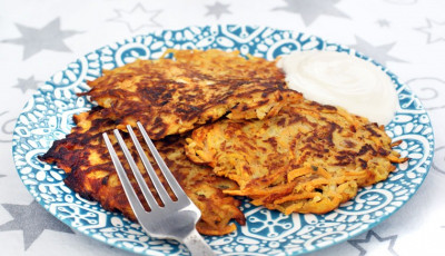 Gluten Free Sweet Potato and Apple Pancakes