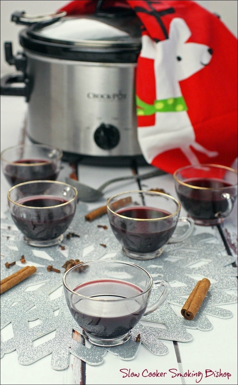 In need of a mulled wine recipe for your Christmas or New Year's Eve party? Get this Slow Cooker Smoking Bishop punch recipe at This Mama Cooks! On a Diet