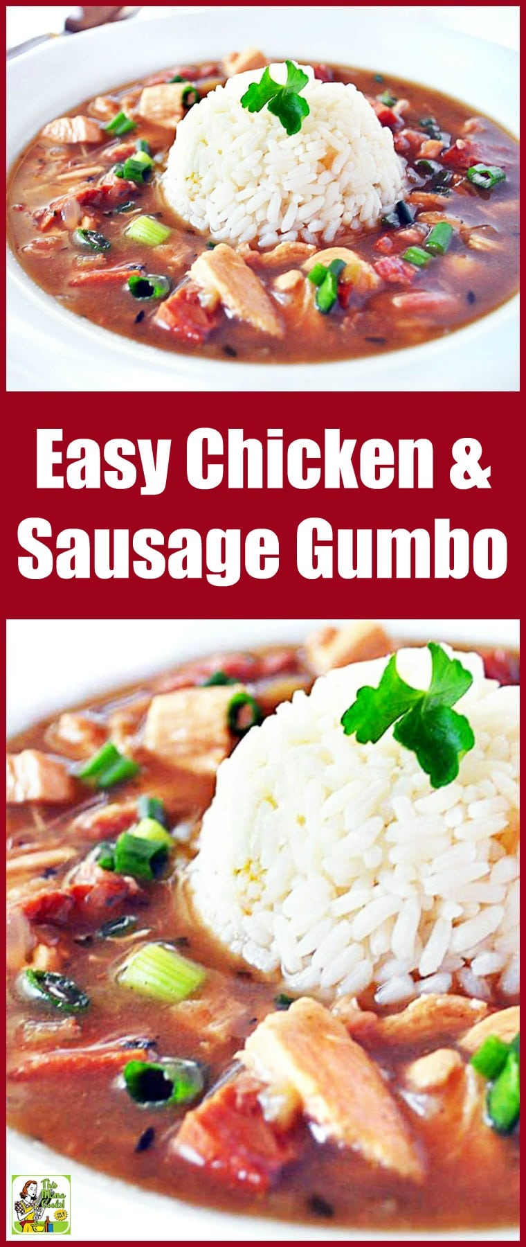 Looking for an Easy Chicken and Sausage Gumbo Recipe that\'s also healthy? Click to try this healthy chicken and sausage gumbo recipe. Comes with a gluten free option. #recipes #easy #recipeoftheday #healthyrecipes #glutenfree #easyrecipes #gumbo #soup #souprecipes #chicken #chickenrecipes #sausage #sausagerecipes
