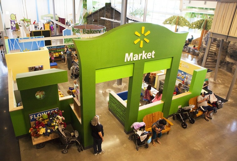 Looking for fun things to do with kids in Northwest Arkansas? Come play at the Neighborhood Market Sponsored by Walmart at the Scott Family Amuzem in Bentonville, Arkansas! Learn more about more fun things to do in NWA on your family vacation at This Mama Cooks! On a Diet.