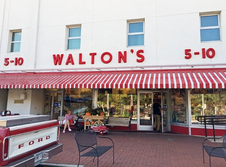Don't forget to stop at the Walmart Museum and see Walton's 5-10 when you visit Bentonville, Arkansas. For more Northwest Arkansas travel tips visit This Mama Cooks! On a Diet