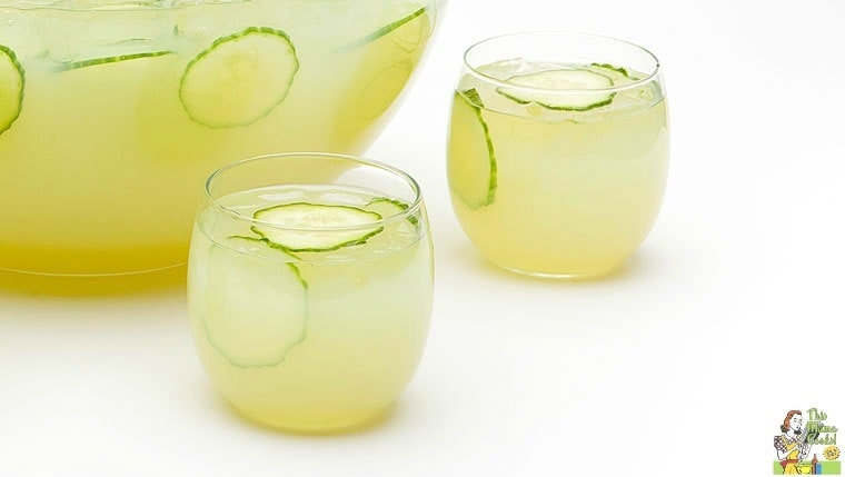 Sparkling green sangria for Green alcoholic drinks recipes