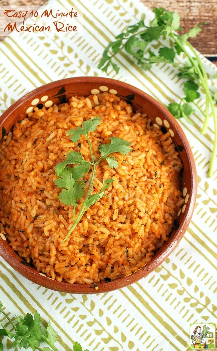 It's not taco night unless you have Mexican restaurant style rice. It's so simple to prepare if you have this Easy 10 Minute Mexican Rice recipe!