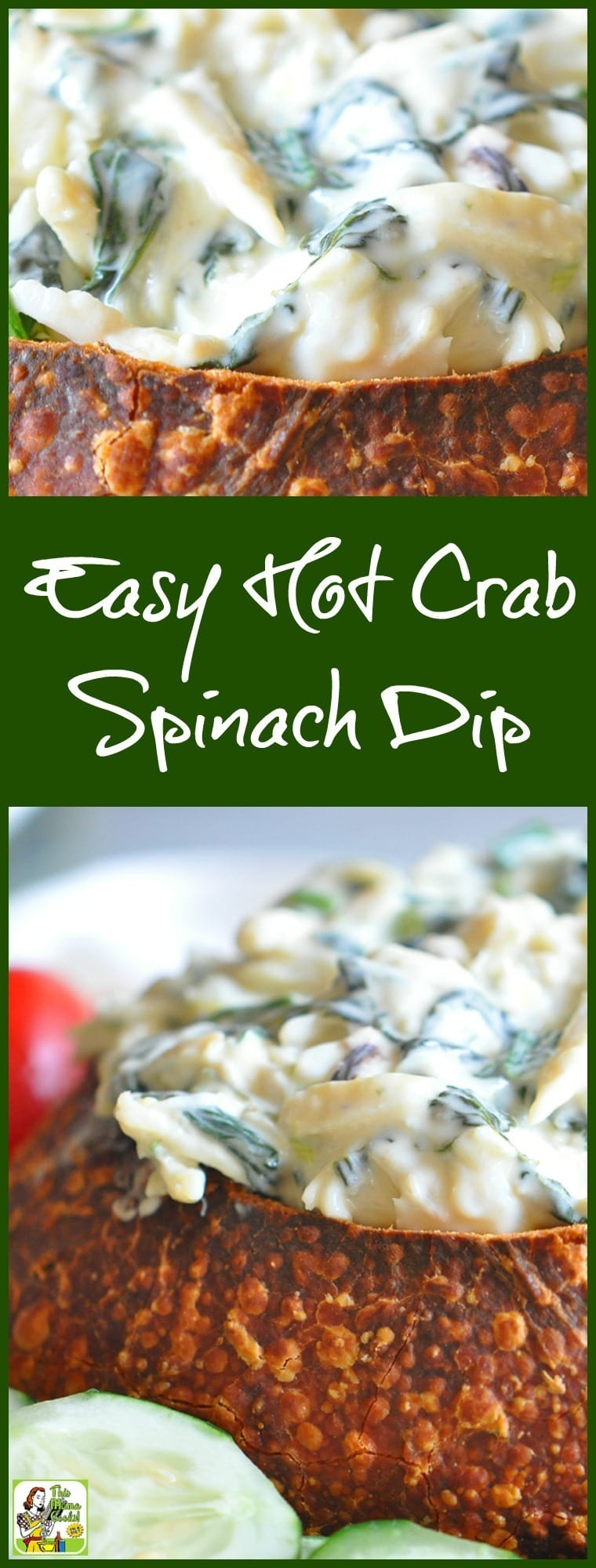 Need a healthy dip appetizer recipe for your party? Try this Easy Hot Crab Spinach Dip Baked in French Bread recipe! Comes with a gluten free option. #recipes #easy #recipeoftheday #glutenfree #easyrecipe #easyrecipes #glutenfreerecipes #dip #partyfood #appetizers #appetizerseasy