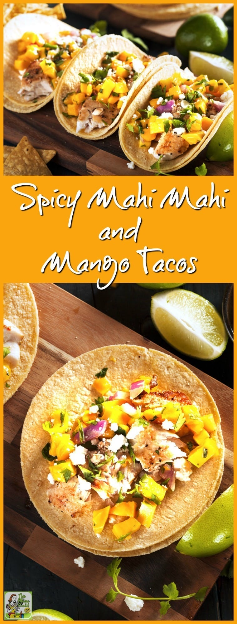 This Spicy Mahi Mahi and Mango Fish Taco recipe from Jillian Michaels  The Master Your Metabolism Cookbook is easy to make and gluten free if you serve it on corn torillas.