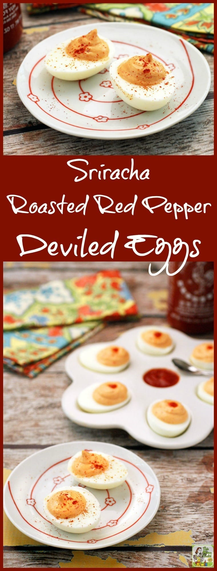 If you love spicy appetizers, you'll love Sriracha Roasted Red Pepper Deviled Eggs. These easy to make appetizers are perfect for parties. They're also naturally gluten free.
