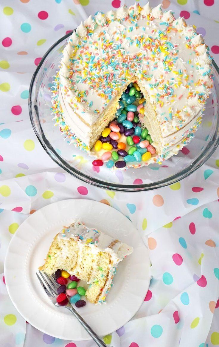 Gluten Free Surprise Inside Jelly Bean Cake Recipe