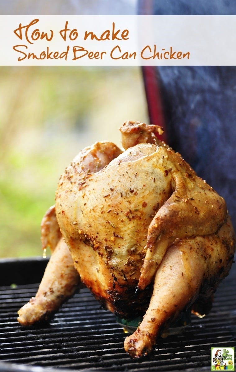 Making smoked beer can chicken is easier than you think. You can do it in an electric or gas smoker or in a grill that you can smoke in like a Green Egg or Kamodo Joe. Smoked beer can chicken tastes great and is worth the little bit of effort!