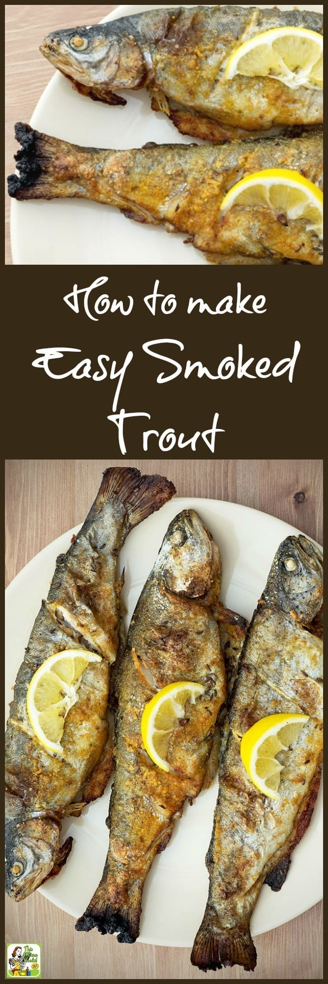 Got fish? Learn how to make smoked trout for dinner or your next fish fry party! It's easier than you think if you have an electric smoker or a grill that you can smoke in. Just make a simple marinade from salad dressing. Once you've tasted smoked trout, you'll never want to cook fish another way! #trout #fish #fishfry #electricsmoker #smoker #grilling #smoking #smokedfish #marinades #fishmarinades #smokedtrout