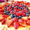 Berry Good Oatmeal Cookie Cake