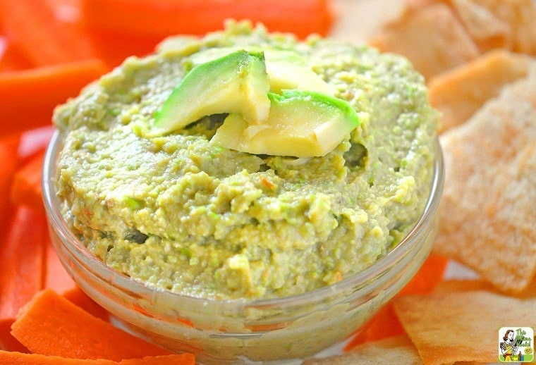 Try this healthy and Easy Edamame Avocado Dip recipe at your next party!