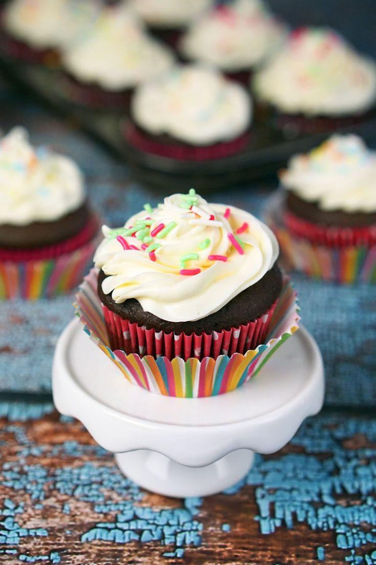 Gluten Free Cookie Dough Stuffed Cupcakes Recipe