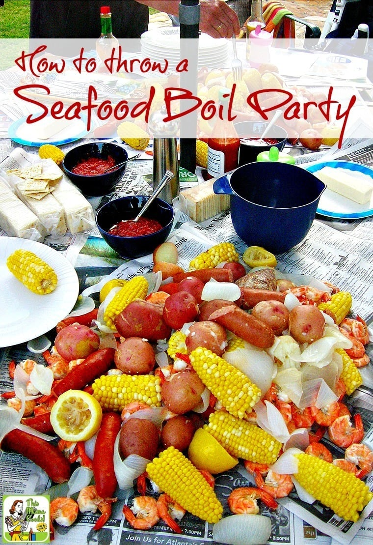Tips on how to throw a seafood boil party, whether you love lobster, shrimp or want to do a traditional Cajun crawfish boil. Includes a Seafood Boil with Corn and Potatoes recipe that you can tweak to include crawfish, too!