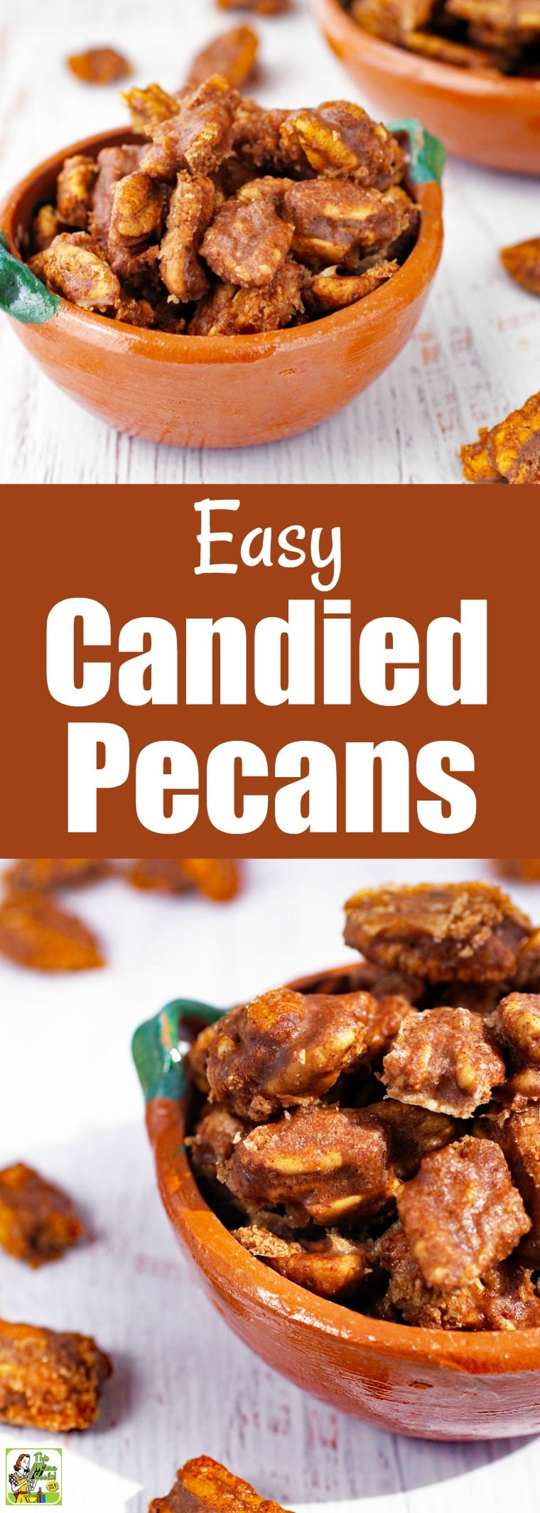 Make this Candied Pecans Recipe to use in salads or as a party appetizer. Add these easy candied pecans to your favorite trail mix or in baked goods. Add different spices to make these into spicy candied pecans. #recipes #easy #recipeoftheday #healthyrecipes #glutenfree #easyrecipe #easyrecipes #glutenfreerecipes #sugarfree #homemade #snacks #appetizers #gifts #giftideas