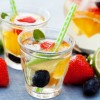 This Easy White Sangria recipe is perfect for backyard barbecue and pool parties. This summer time cocktail is made with Pinot Grigio and any type of fruit you like! Click to get this white wine sangria recipe.