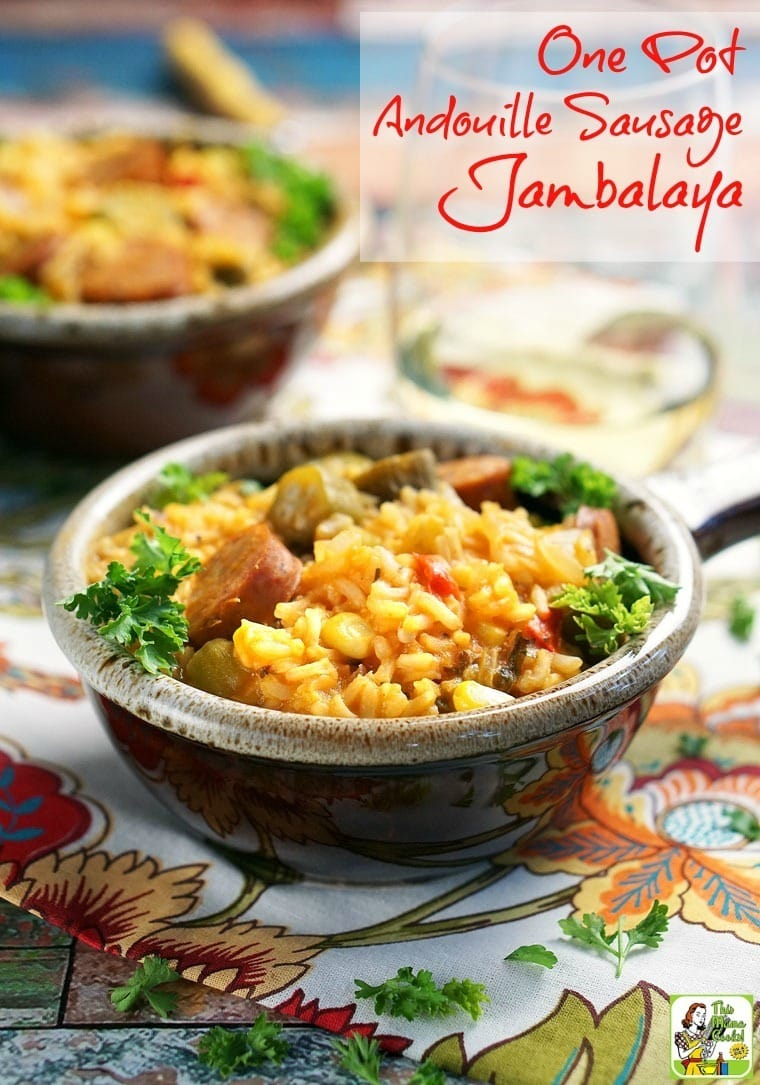 If you love spicy jambalaya, make this One Pot Andouille Sausage Jambalaya recipe! Super easy to make. And so delicious that your family will go back for seconds and thirds!