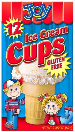 Make Gluten Free Ice Cream Cone cupcakes with these gluten free ice cream cup cones