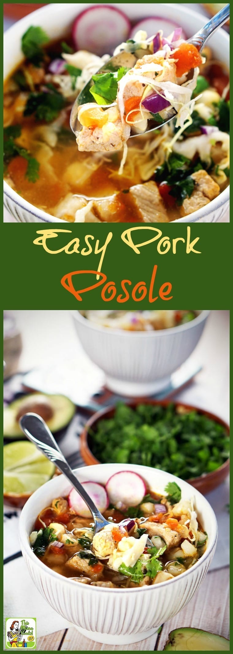 Make this Easy Pork Posole in less than 30 minutes. Gluten free, perfectly spicy, and delicious!