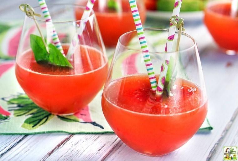 Sparking Savannah Vodka Watermelon Cocktail