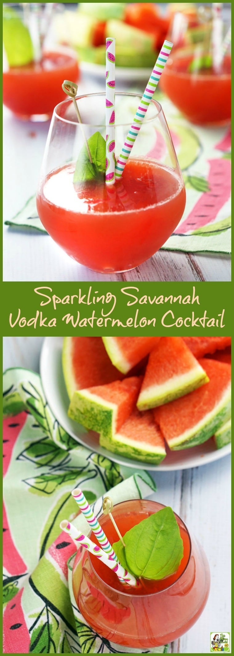 The best fresh watermelon cocktail! Make this Sparkling Savannah Vodka Watermelon Cocktail recipe with fresh watermelon juice, vodka, sparkling wine, and St. Germain liqueur. You\'ll love this refreshing watermelon cocktail recipe. #recipe #easy #recipeoftheday #glutenfree #easyrecipes #watermelon #juice #cocktail #cocktailrecipe #drinks #drinkrecipe #vodka #sparklingwine #wine