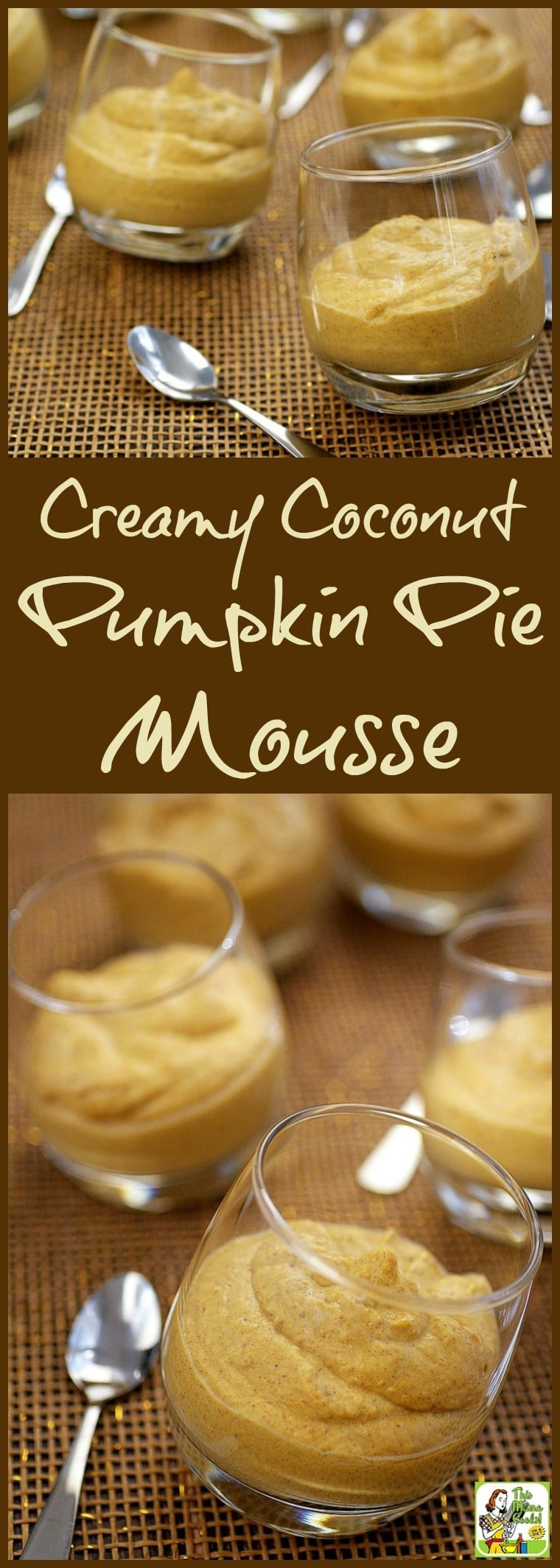This Creamy Coconut Pumpkin Pie Mousse recipe is vegan, gluten free, dairy free, paleo, and sugar free. Bring it to your next Halloween, Fall or Thanksgiving party. Click here to get this healthy, easy to make dessert recipe! #pumpkin #coconut #pumpkinpie #glutenfree #vegan #healthy #healthyrecipe #sugarfree #halloween #fall #thanksgiving #dessert #dessertrecipe #mousse #easy #paleo #nobake #recipe #recipeoftheday #healthyrecipes #easyrecipes #veganfood #veganrecipes