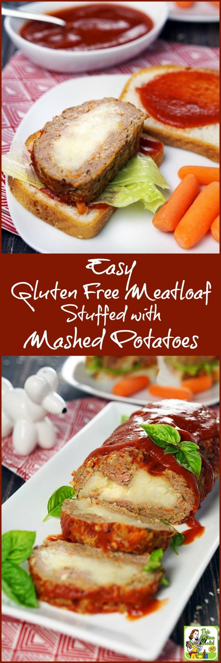 If you're looking for easy gluten-free dinner recipes that can do double duty as a lunch or after-school snack, you'll love this  Easy Gluten-Free Meatloaf Stuffed with Mashed Potatoes recipe. #recipes #easy #recipeoftheday #glutenfree #easyrecipe #easyrecipes #glutenfreerecipes #dinner #easydinner #dinnerrecipes #dinnerideas
