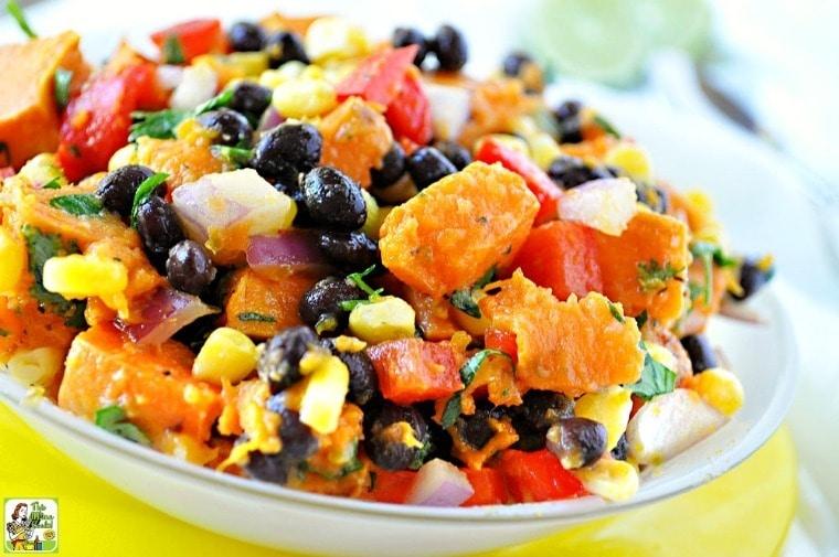 Healthy Southwestern Sweet Potato Salad Recipe. This cold sweet potato salad recipe has a spicy Southwestern flair.