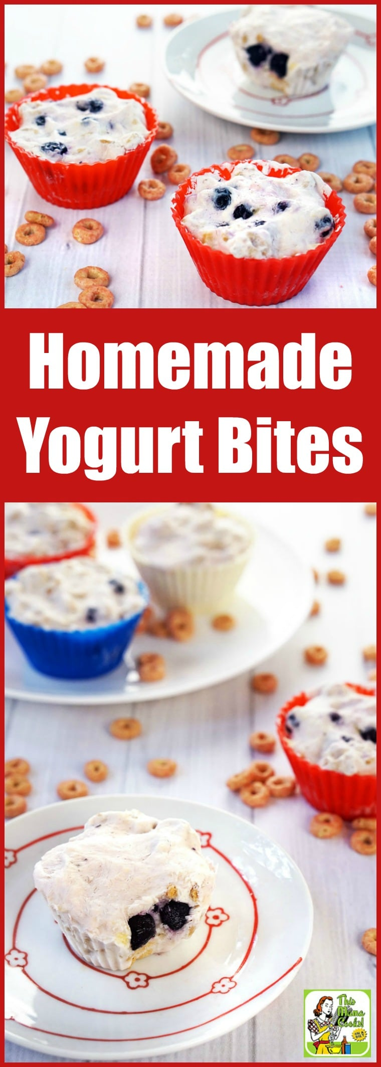 Homemade Yogurt Bites are an easy to make, wholesome breakfast treat or afternoon snack. This yogurt bites recipe contains everything you want in a good-for-you breakfast – fruit and berries, non-fat Greek yogurt, and a whole grain cereal. Gluten-free with a dairy free option. #recipes #easy #recipeoftheday #glutenfree #easyrecipe #easyrecipes #glutenfreerecipes #breakfast #snacks #yogurt #kids #kidfriendly