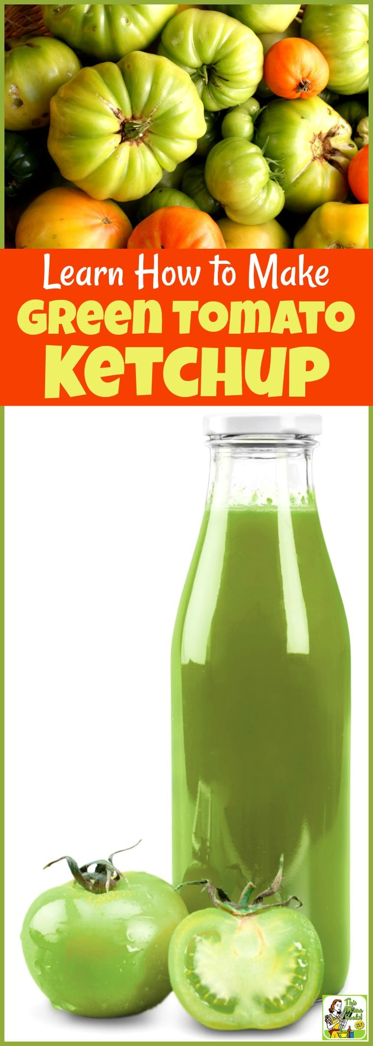 Looking for green tomato recipes? Learn How to Make Green Tomato Ketchup. Even if you\'ve never canned tomatoes before, it\'s easy to do! #recipe #easy #recipeoftheday #healthyrecipes #glutenfree #easyrecipes #canning #tomatoes #ketchup #DIY #greentomatoes