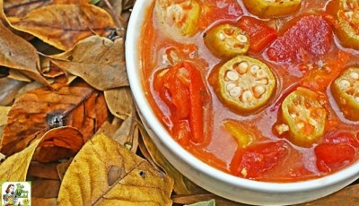 Looking for an easy to make healthy soup recipe? Check out this Easy Tomato & Okra Soup recipe. So delicious, even your kids will ask for seconds! Make a double batch and freeze half for another night's soup and salad lunch or dinner. Click to get this easy and healthy soup recipe.