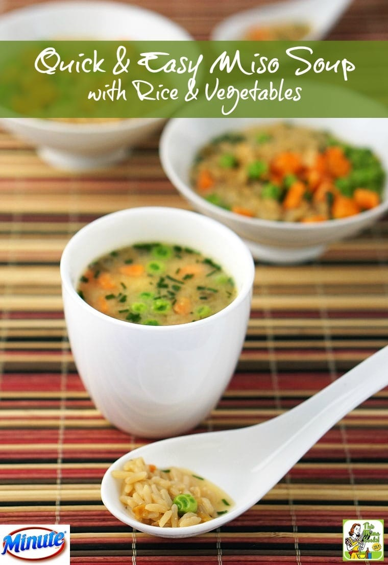 This Quick & Easy Miso Soup recipe made with rice and vegetables can be made in 15 minutes or less.