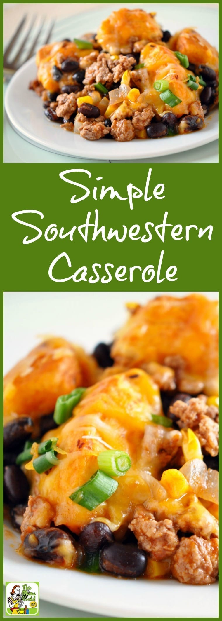 This Simple Southwestern Casserole recipe can be made in 30 minutes or less. It uses pantry and freezer friendly ingredients. #recipes #easy #recipeoftheday #healthyrecipes #glutenfree #easyrecipes #casserole #dinner #easydinner #dinnerrecipes