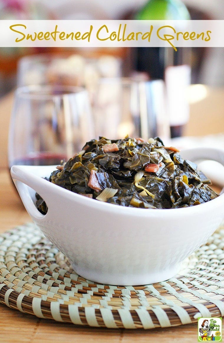 This Sweetened Collard Greens recipe will get your family asking for more. Click to get this easy and healthy recipe!