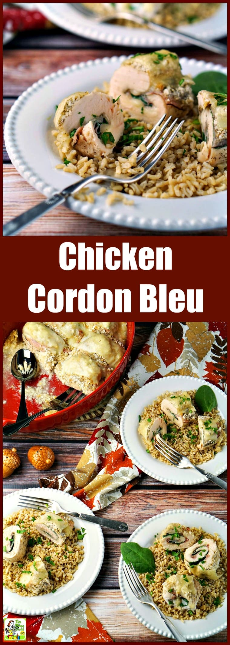 This Chicken Cordon Bleu Recipe makes an easy weeknight dinner. Baked chicken cordon bleu is also gluten-free. This easy dinner recipe rolls the chicken with the deli ham and cheese slices, pinwheel style. #recipes #easy #recipeoftheday #glutenfree #easyrecipe #easyrecipes #glutenfreerecipes #dinner #easydinner #dinnerrecipes #dinnerideas #chicken #chickenfoodrecipes #chickenrecipes