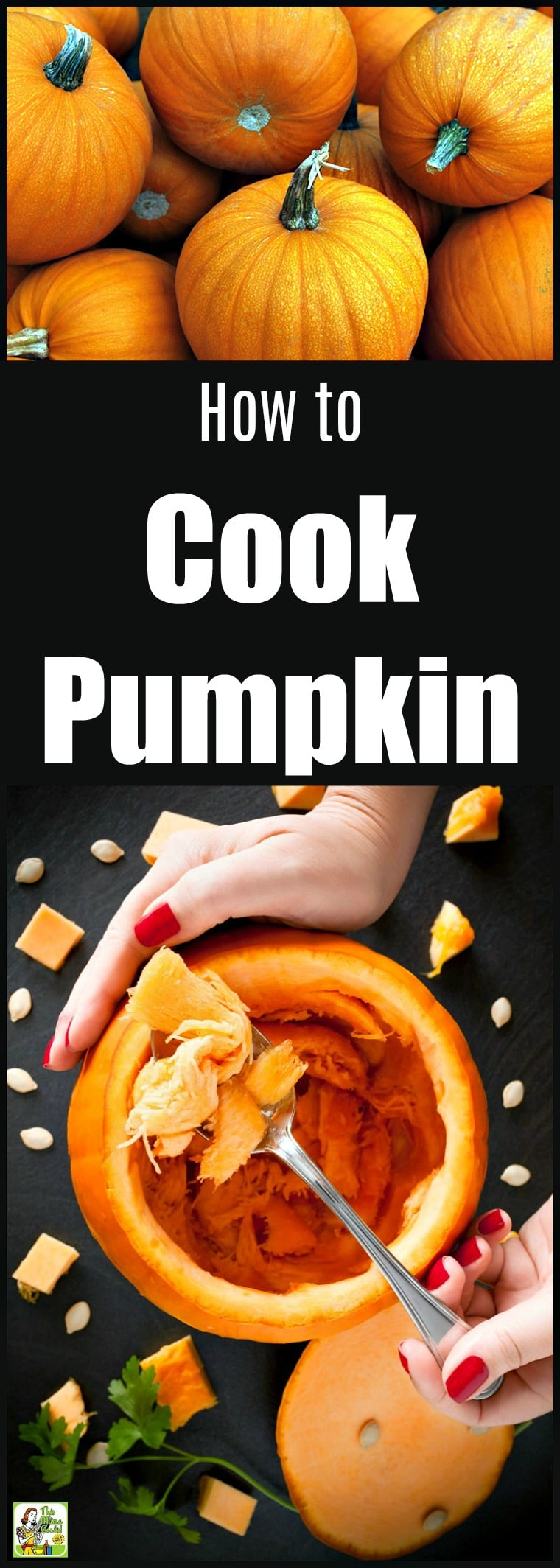 Learn how to cook pumpkins to make pumpkin puree for cooking and baking. Includes several easy methods for cooking pumpkin: microwaving, oven roasting, steaming on the stovetop, and slow cooking in a crock-pot. #pumpkinrecipe #pumpkin #pumpkinseeds #easy #easyrecipe #easyrecipes #halloween #thanksgiving #baking #slowcooker #slowcookerrecipes #crockpot #crockpotrecipes