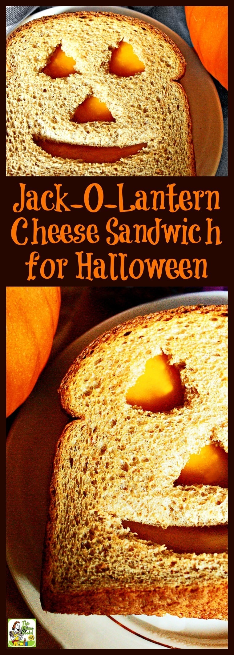 Need Halloween sandwich ideas kids love? This Jack-O-Lantern Cheese Sandwich for Halloween recipe is a healthy cheese sandwich for Halloween kids parties. So easy to make that the kids can make this fun and healthy Halloween recipe themselves! Can be made gluten free. #recipe #easy #recipeoftheday #healthyrecipes #glutenfree #easyrecipes #Halloween #snack #snacks #cheese #kids #kidfriendly #sandwiches